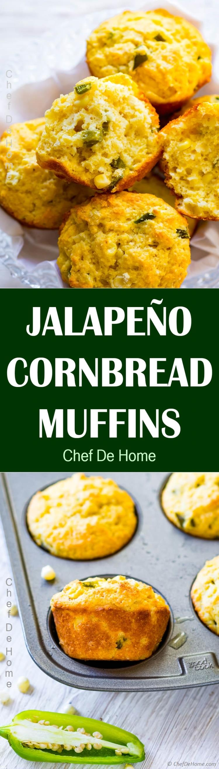 Moist and Sweet Cornbread Muffins to dunk in your favorite soup