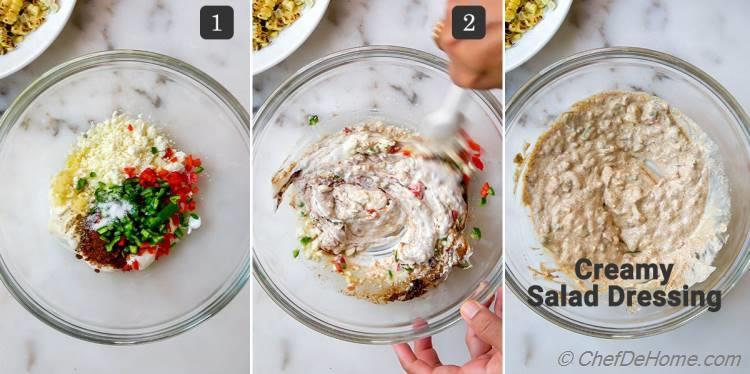 Creamy Salad Dressing for Mexican Street Corn Salad