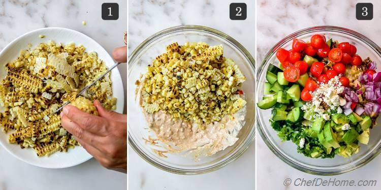 Making Mexican Street Corn Salad