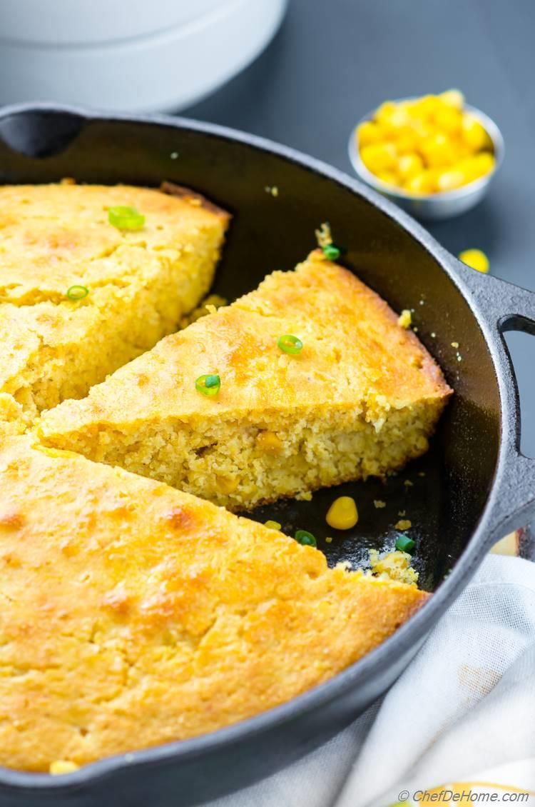 Cornbread with creamed corn recipe