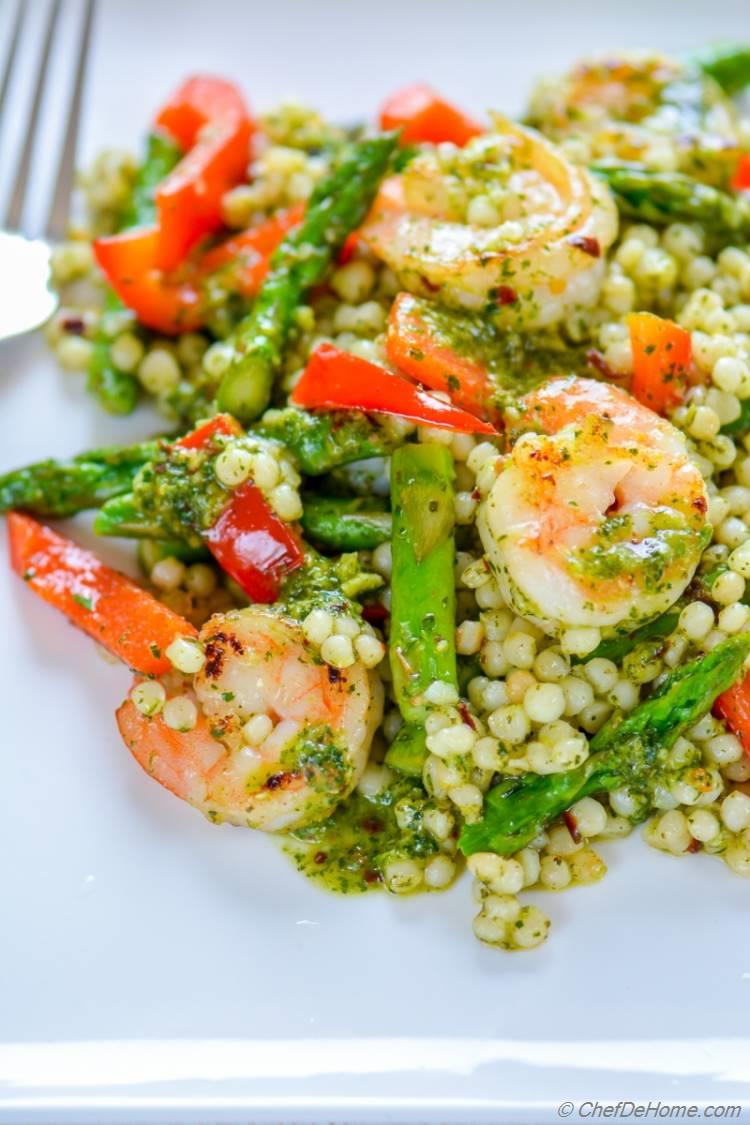 Lite and zesty Chimichurri Shrimp Salad | chefdehome.com