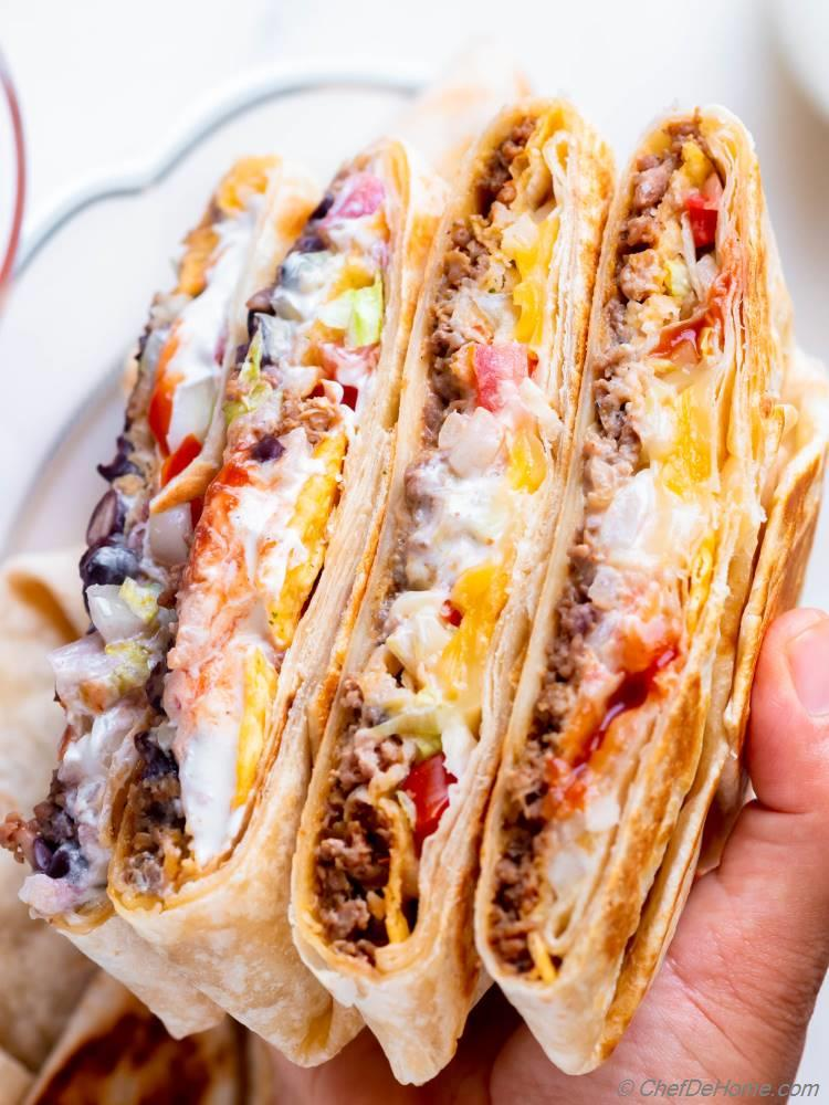 Crunchwrap Recipe like Taco Bell Crunchwrap Supreme