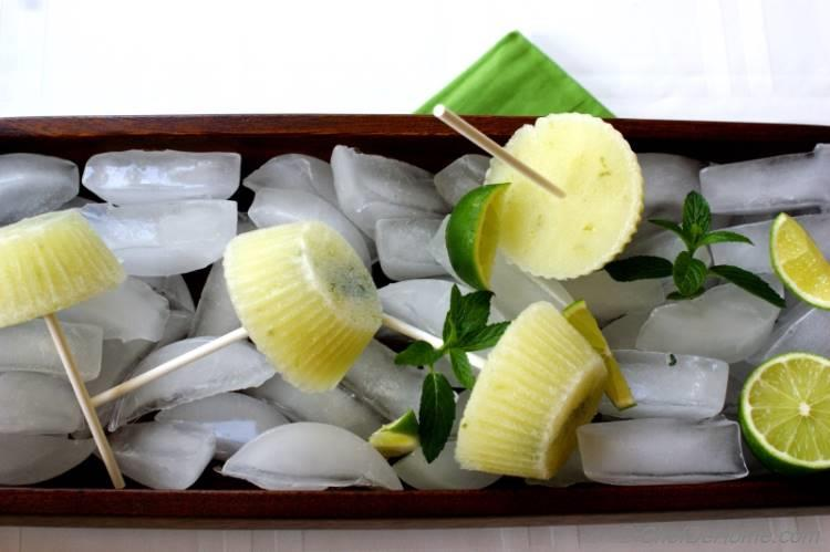 Cucumber Lime Ice Pops