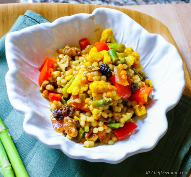 Curried Israeli Couscous Recipe Chefdehome Com