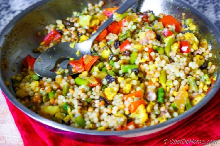 Curried Israeli Couscous Recipe