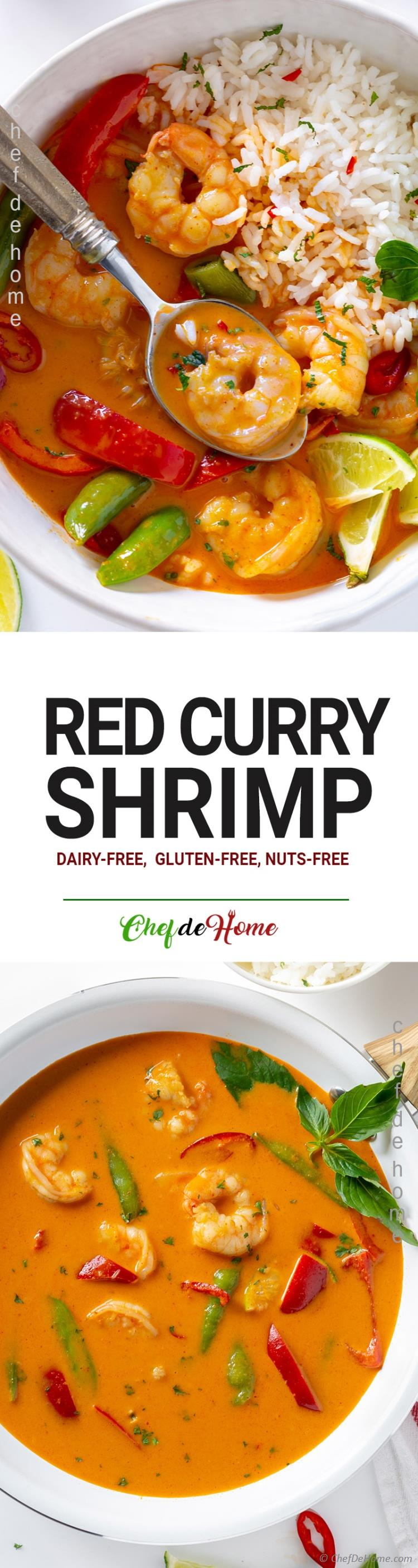 Red Curry with Shrimp and Thai Basil