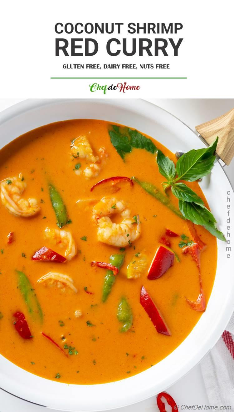 Coconut Red Curry Shrimp and Veggies