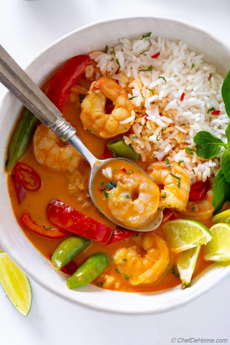 Creamy Thai Shrimp Curry Recipe