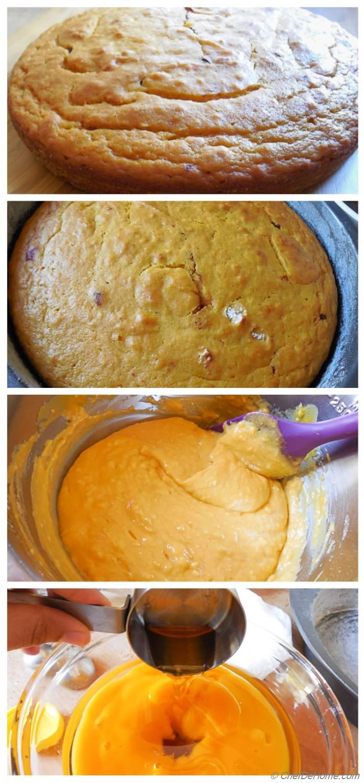 Moist Egg-Less Vegan Mango Cake