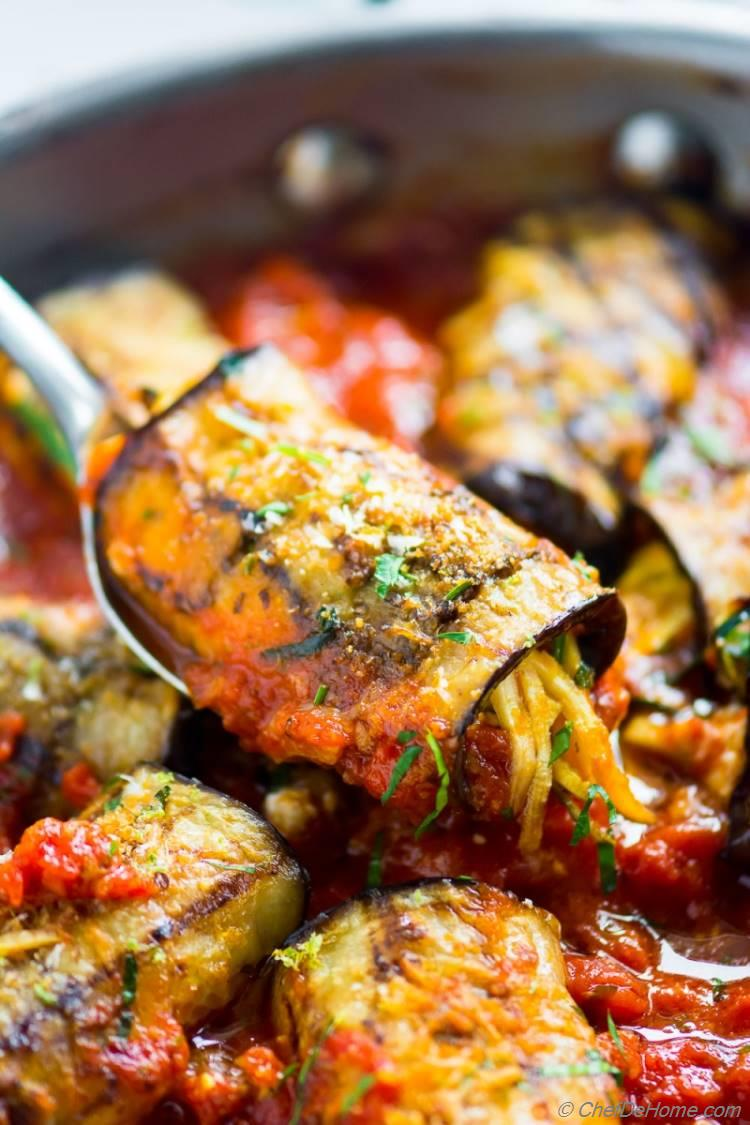 Baked Eggplant Rollatini - healthy and delicious