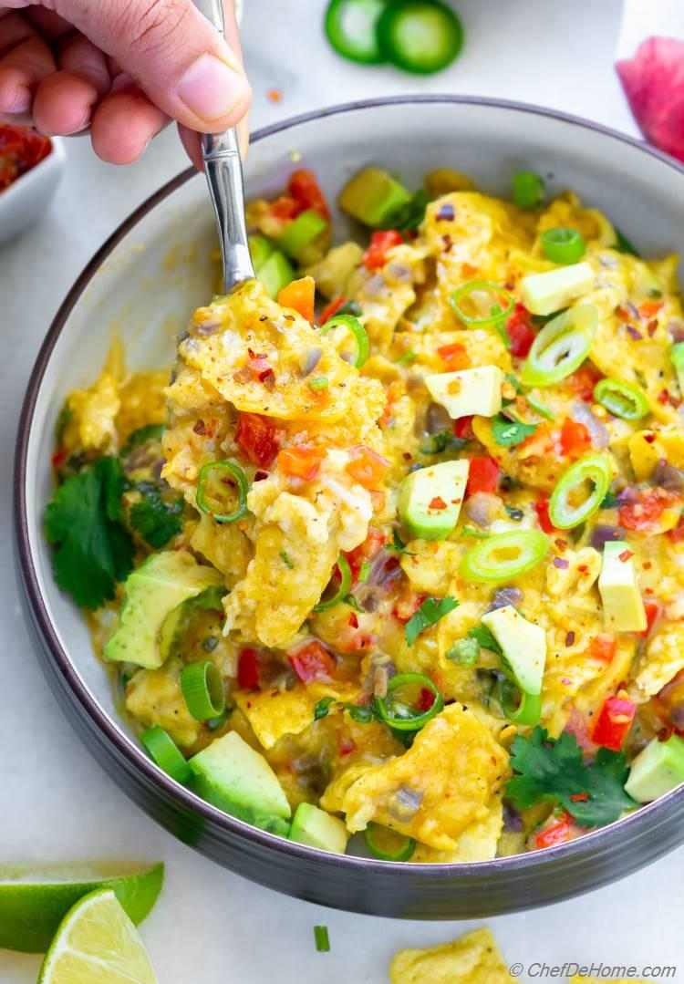 Easy Migas Recipe Soft Scrambled Eggs with Tortilla