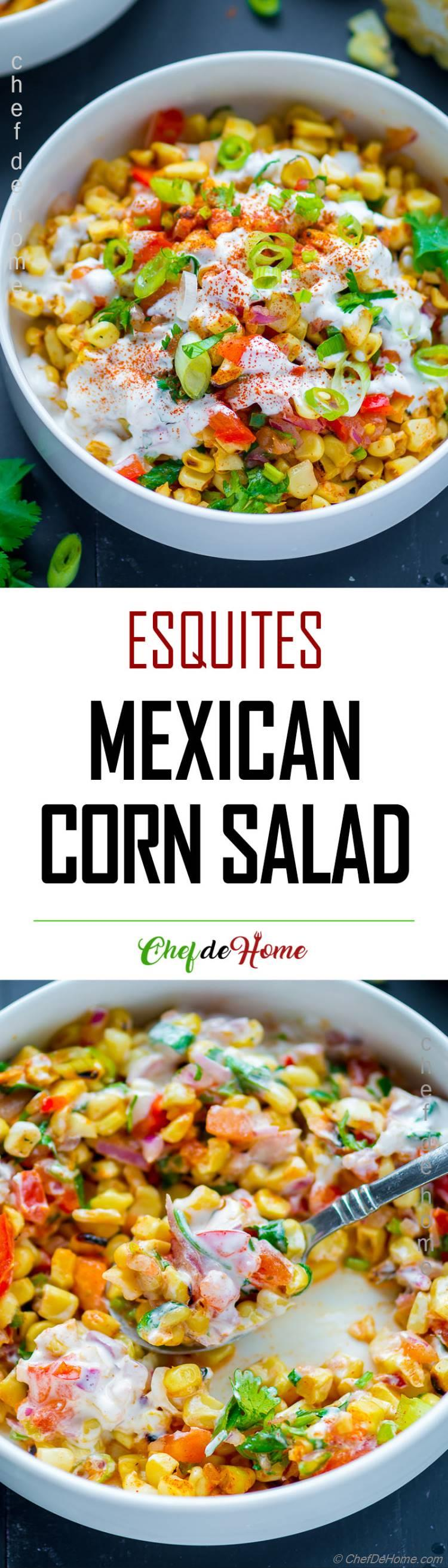 Mexican Corn Salad Esquites Recipe