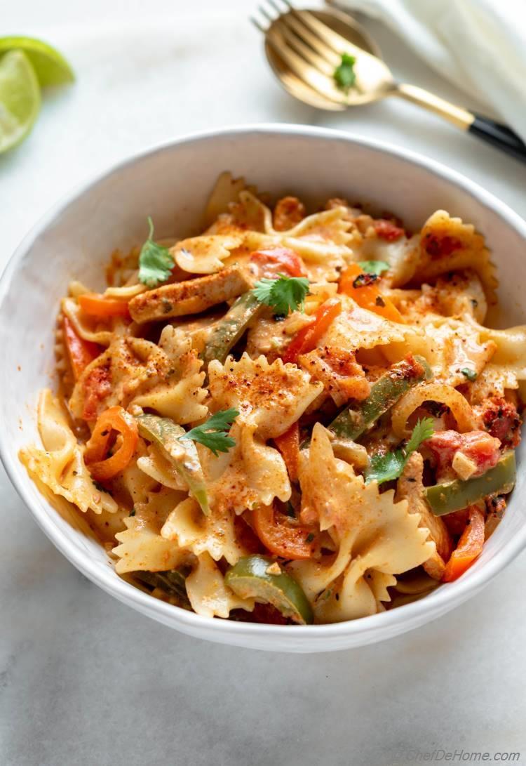 Spicy Chicken Fajita Pasta