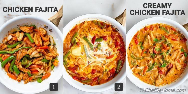 How To Make Creamy Chicken Fajita