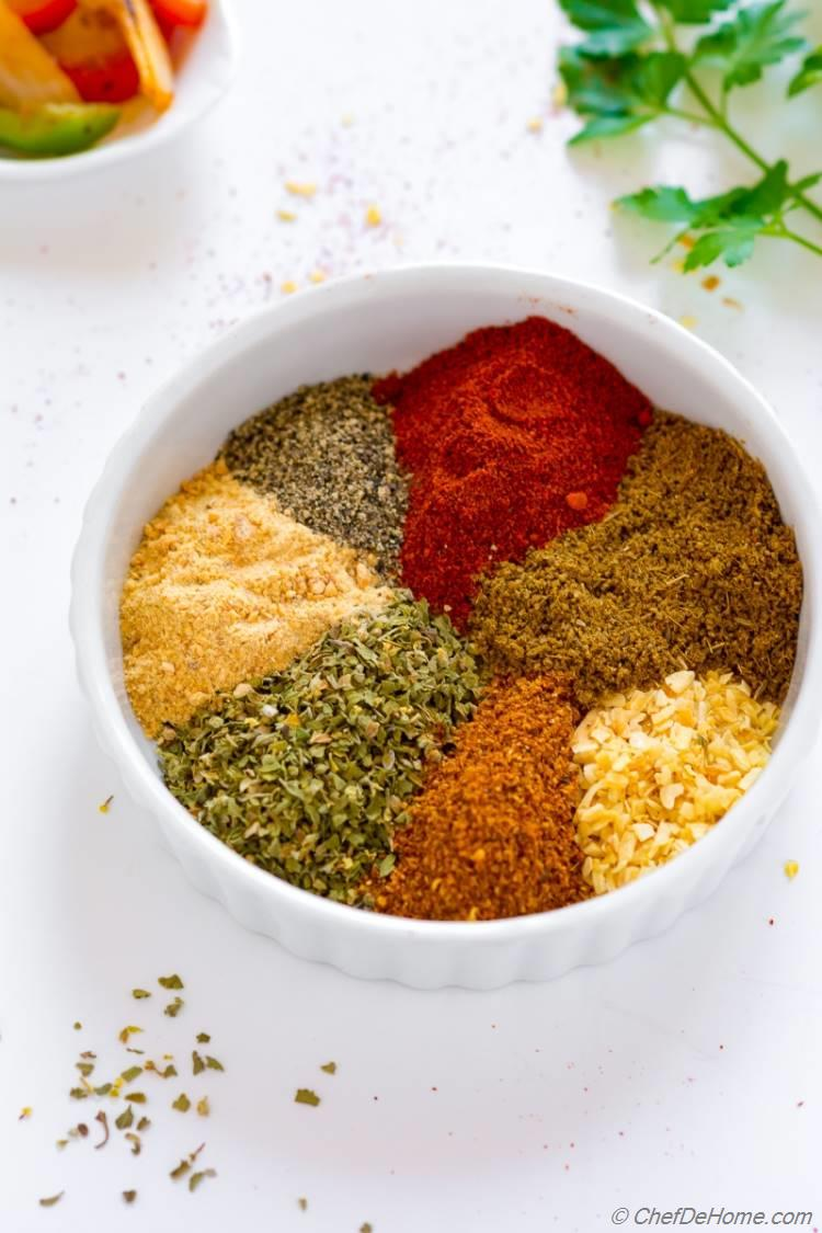 Easy and Homemade Fajita Seasoning without Salt