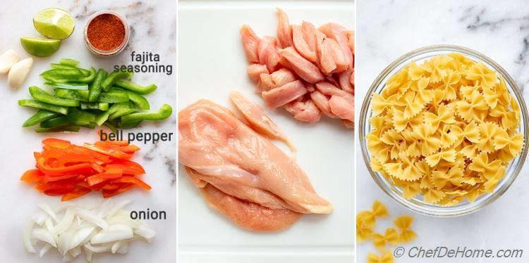 Ingredients Chicken Fajita Pasta