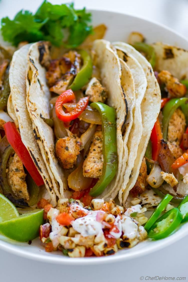 Easy Chicken Fajitas the healthier Mexican food ever