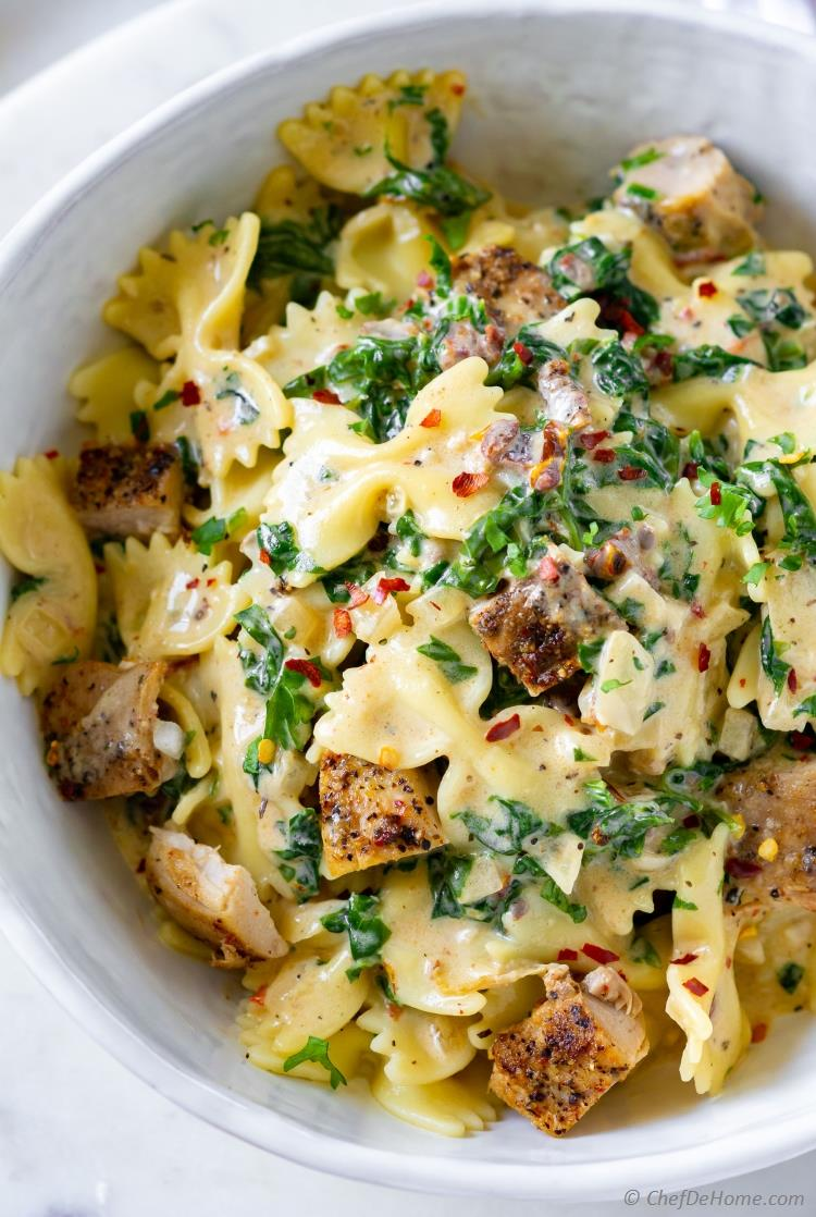 Easy Chicken Florentine Pasta Recipe