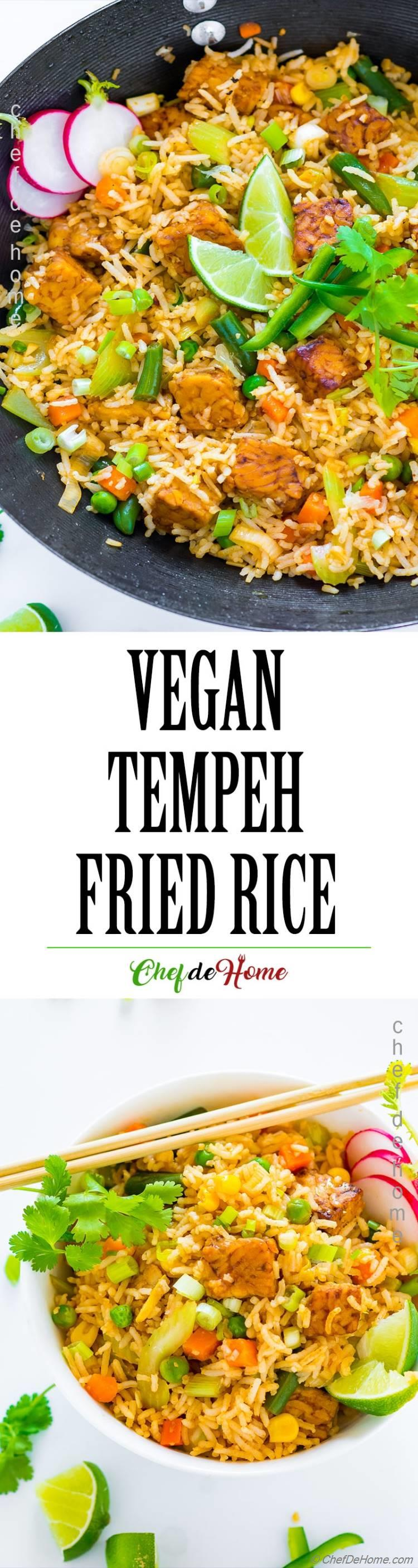 Vegetable Fried Rice with Tempeh