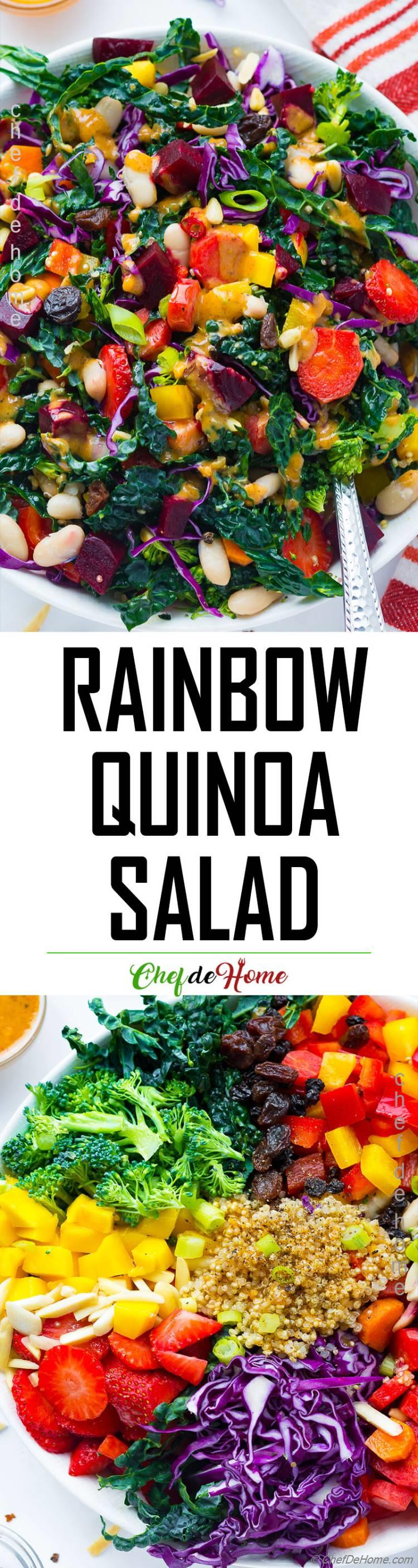 Summer Garden Salad with Rainbow Veggies and Quinoa