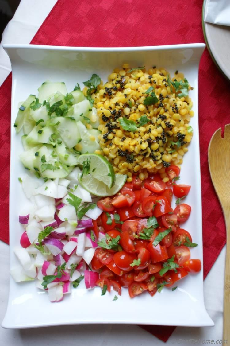 Masala Split Gram Dal Salad | chefdehome.com