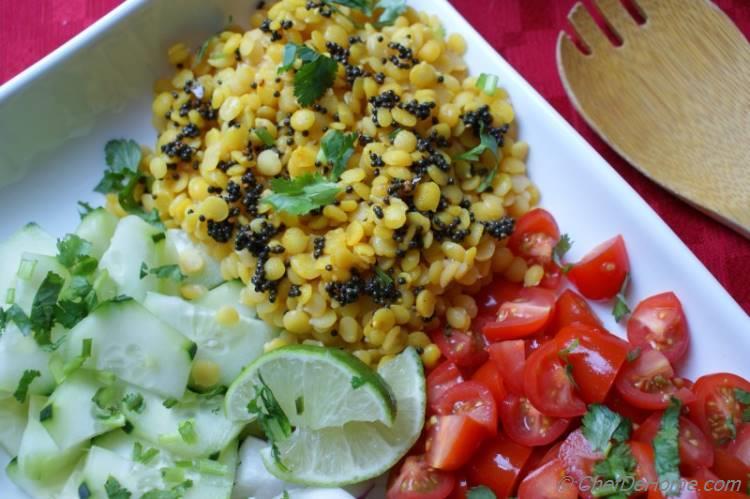 Lentil Salad with Mustard Vinaigrette | chefdehome.com