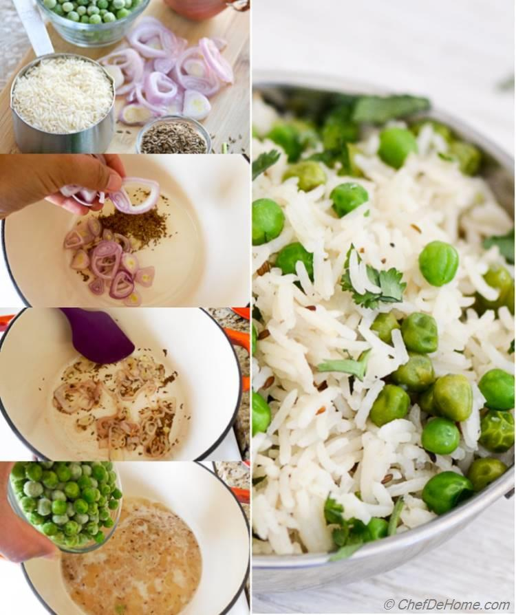 Easy Indian Green Pea Pilaf | chefdehome.com
