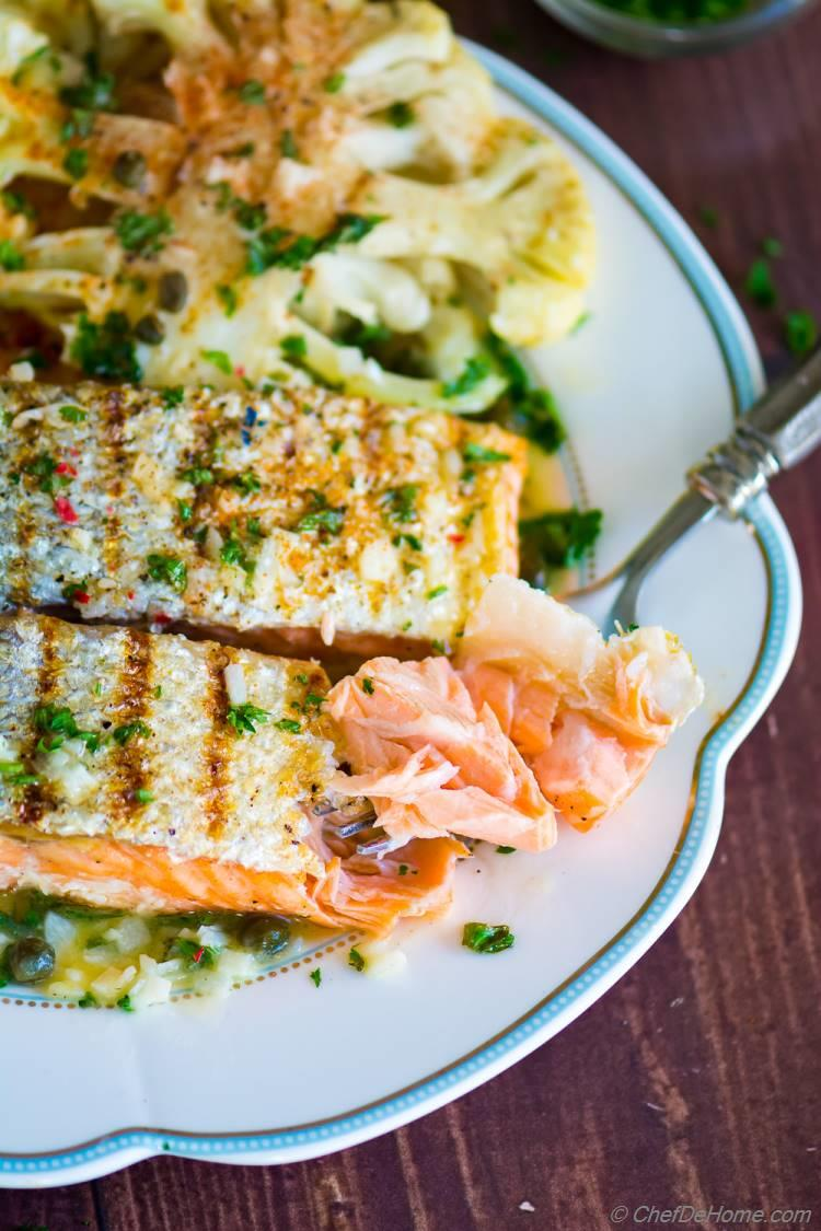Perfect Grilled Flaky Moist Salmon