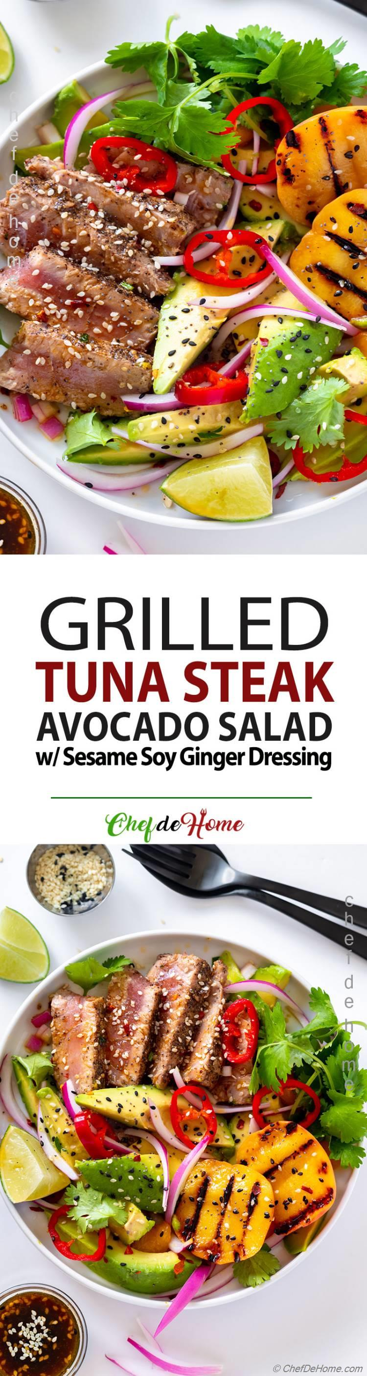 Fresh Tuna Grilled Steak Salad Recipe