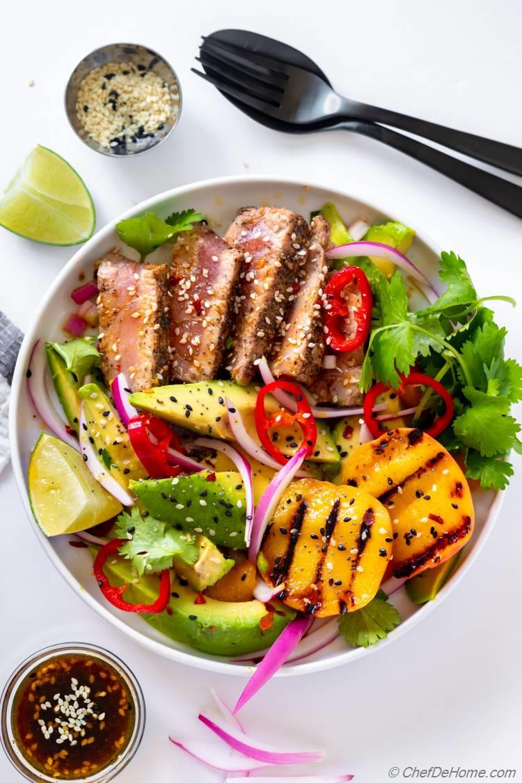 Grilled Tuna Steak Salad Recipe