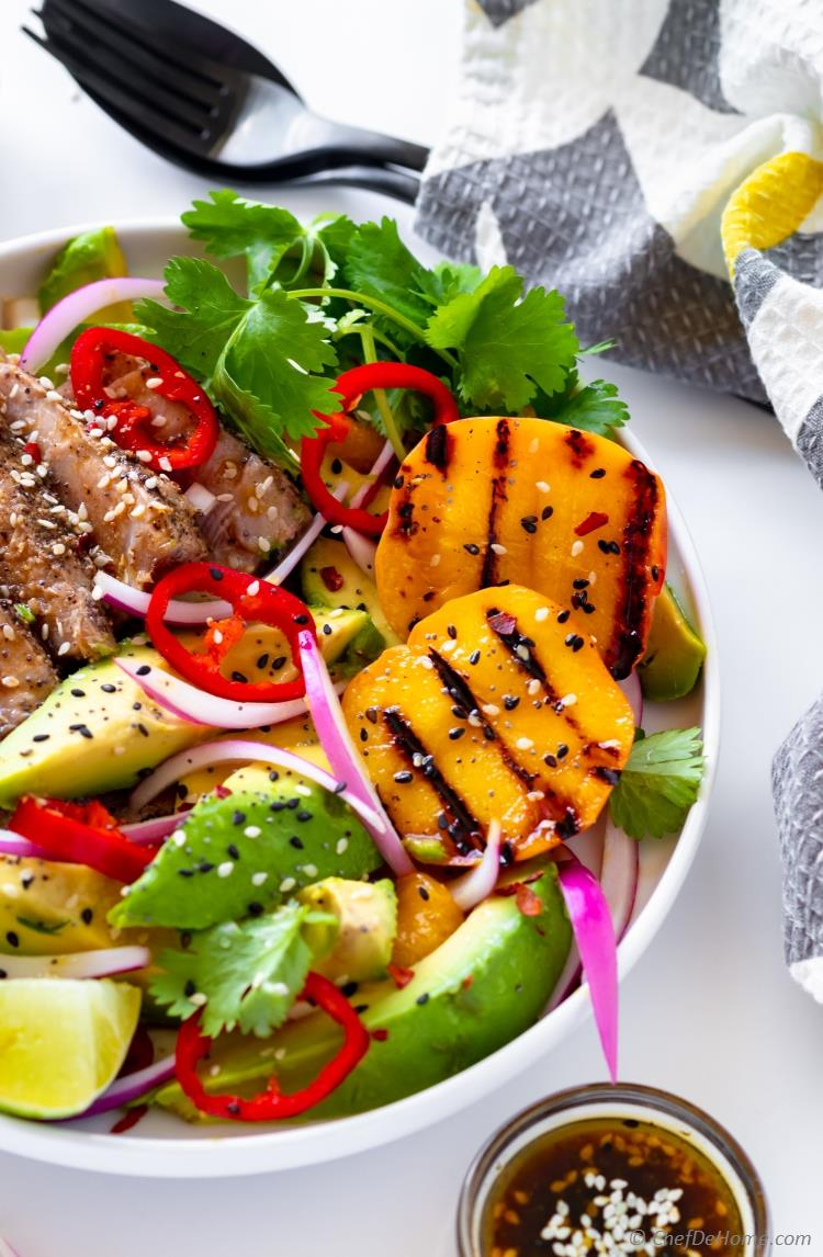 Salad with Grilled Peach