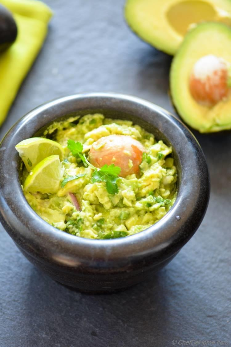 Guacamole Zesty Creamy Avocado Dip with Garlic