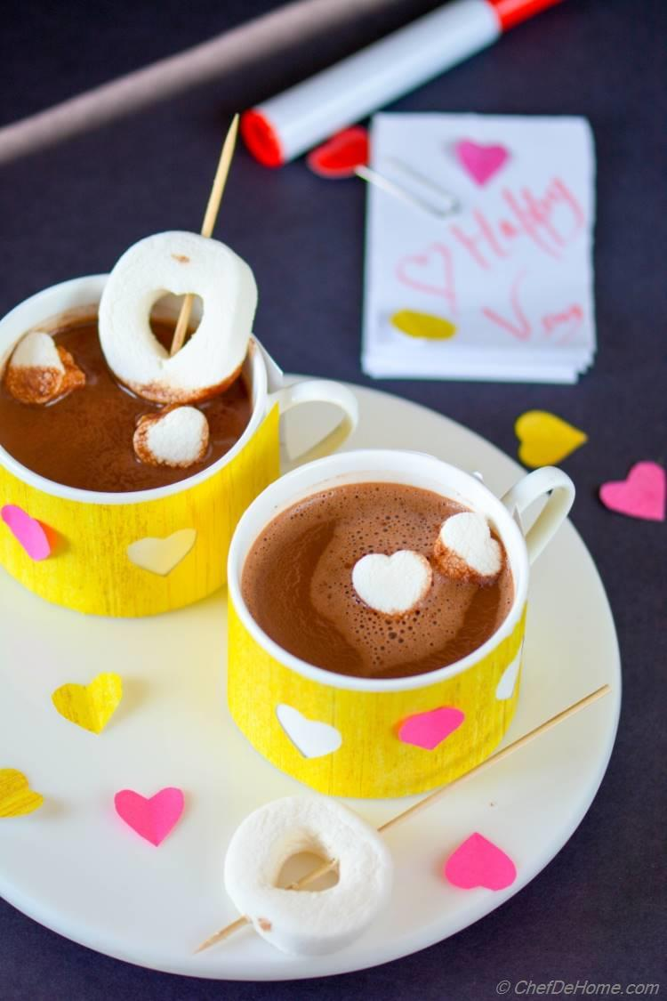 Valentine Day Brunch Skinny Hot Cocoa ChefDeHome