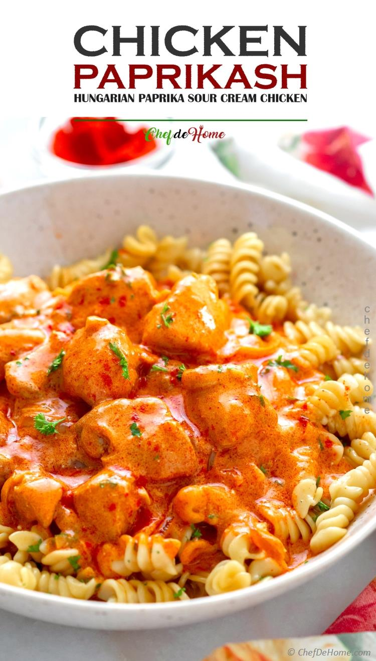 the best ever Chicken Paprikash Sauce