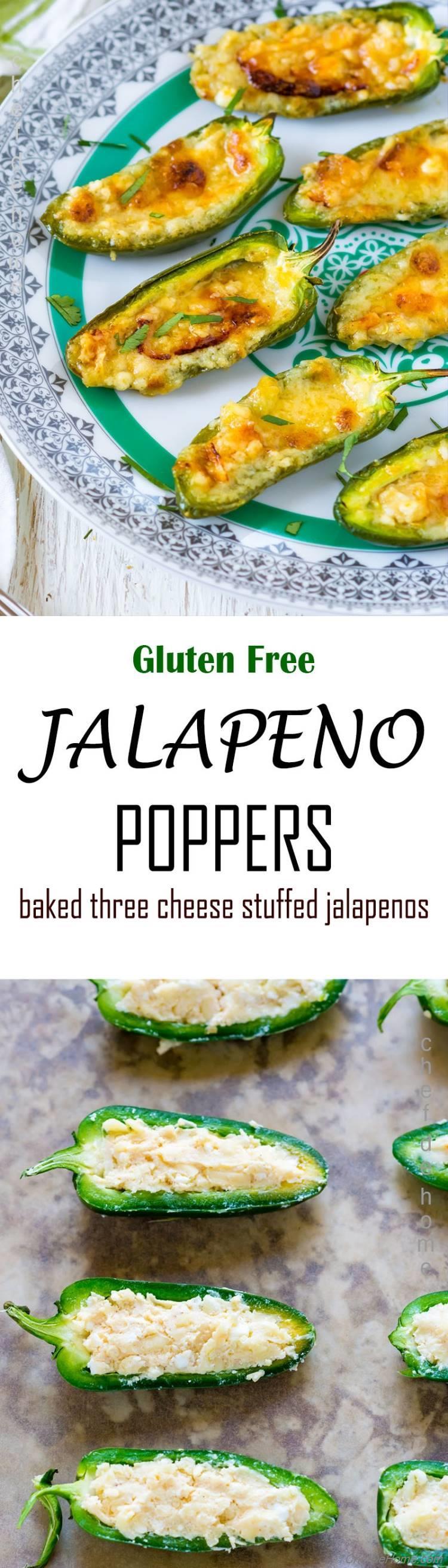 Baked Gluten Free Stuffed Jalapeno Poppers