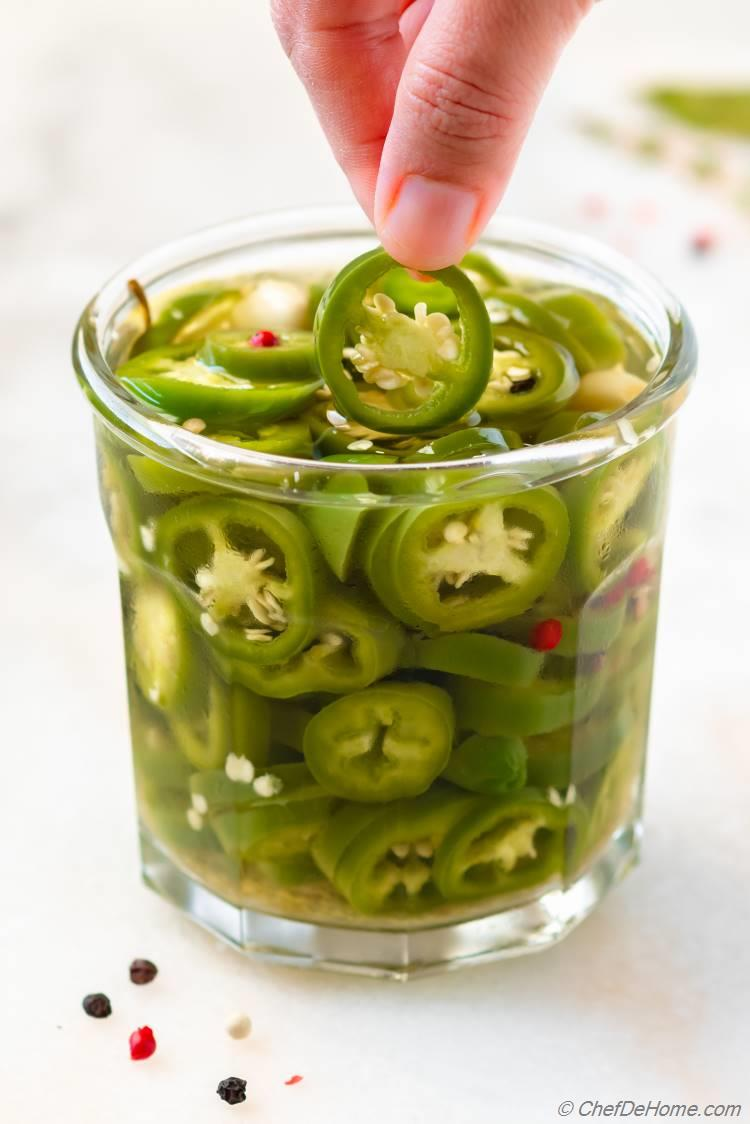 Crunchy Pickled Jalapeno Rings