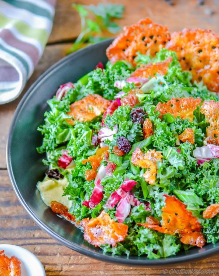 and crisp vegetarian kale caesar salad vegetarian kale caesar salad ...