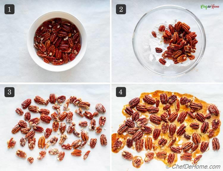 Recipe Candied Pecans for Apple Kale Salad