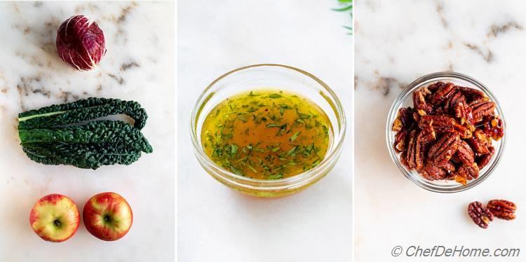 Ingredients for Apple Kale Salad