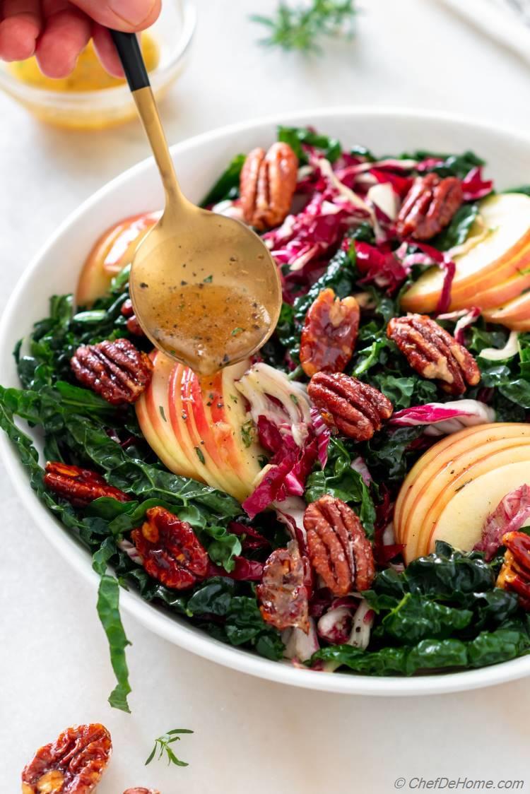 Kale Salad with Apple Cider Vinegar Dressing