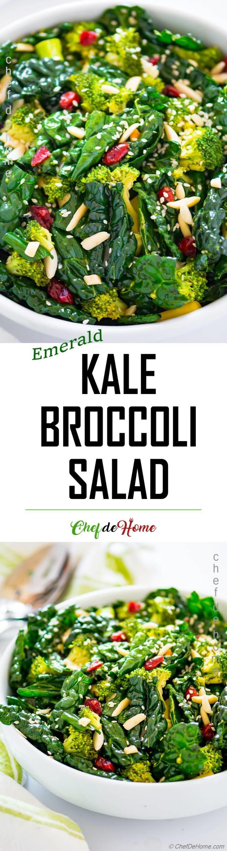 Healthy Kale Broccoli Salad