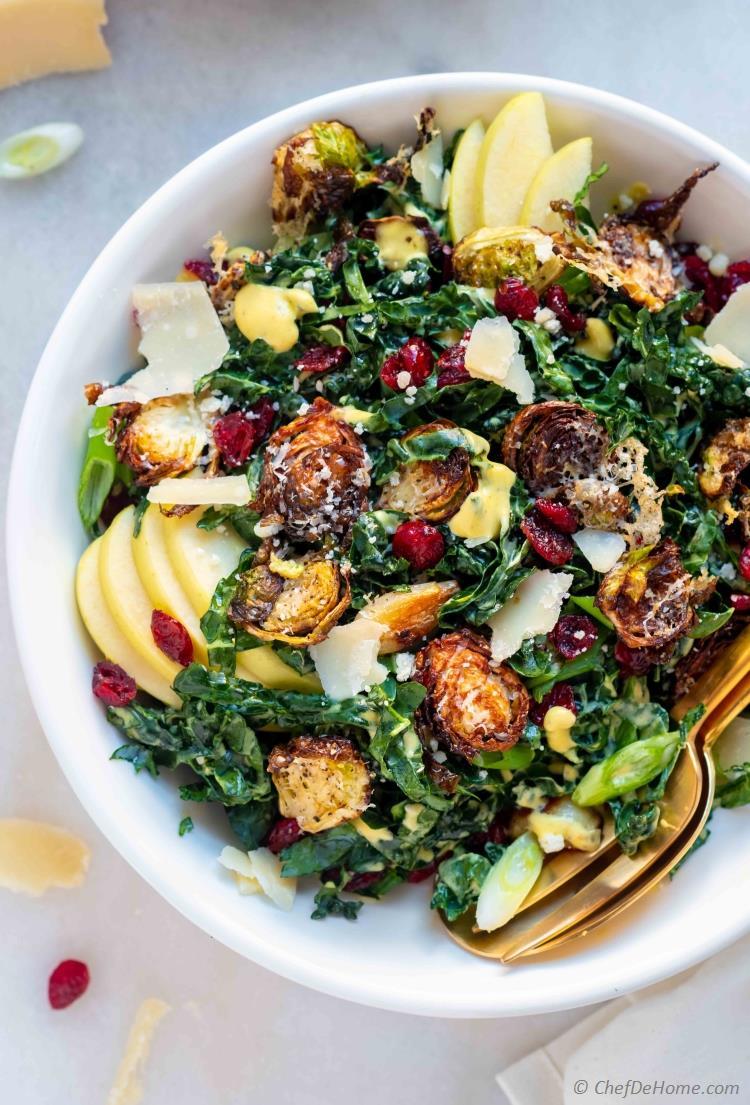 Kale Brussel Sprout Salad
