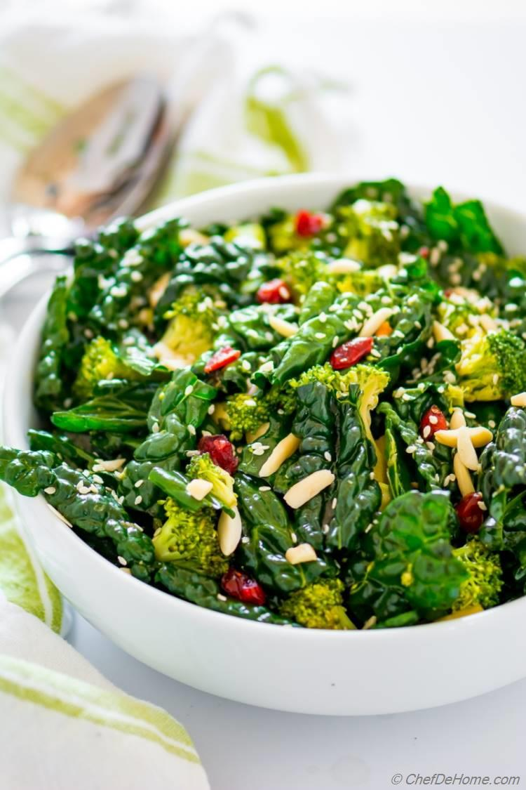 Sesame Dressing with Kale Salad