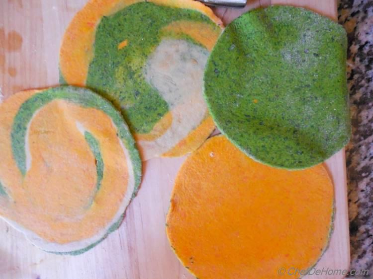 Fun Shaped Kale and Carrot Flat Bread Recipe for Kids