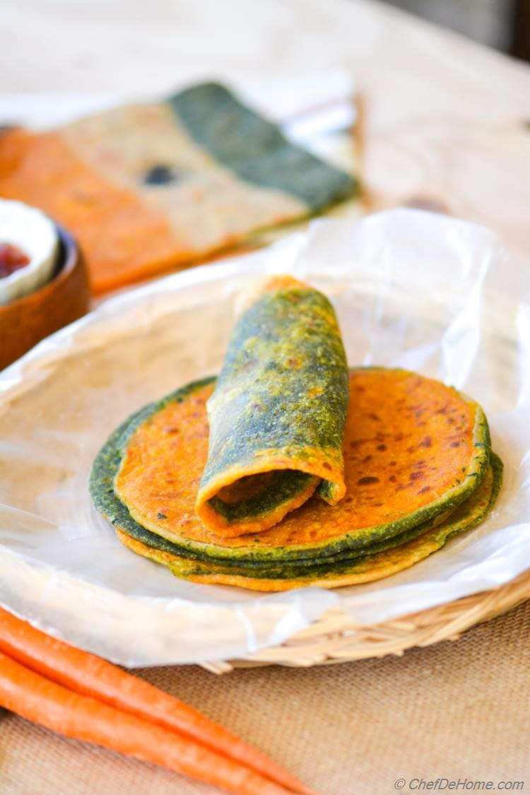 Nutritious Kale and Carrot Indian Flat Bread