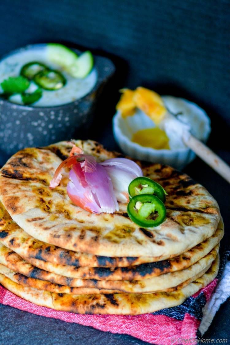 Restaurant-Style Indian Keema Naan - Stuffed Lamb Bread