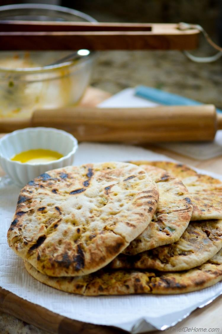 Indian Traditional Keema Naan Bread Cooked and Served Family-style | chefdehome.com