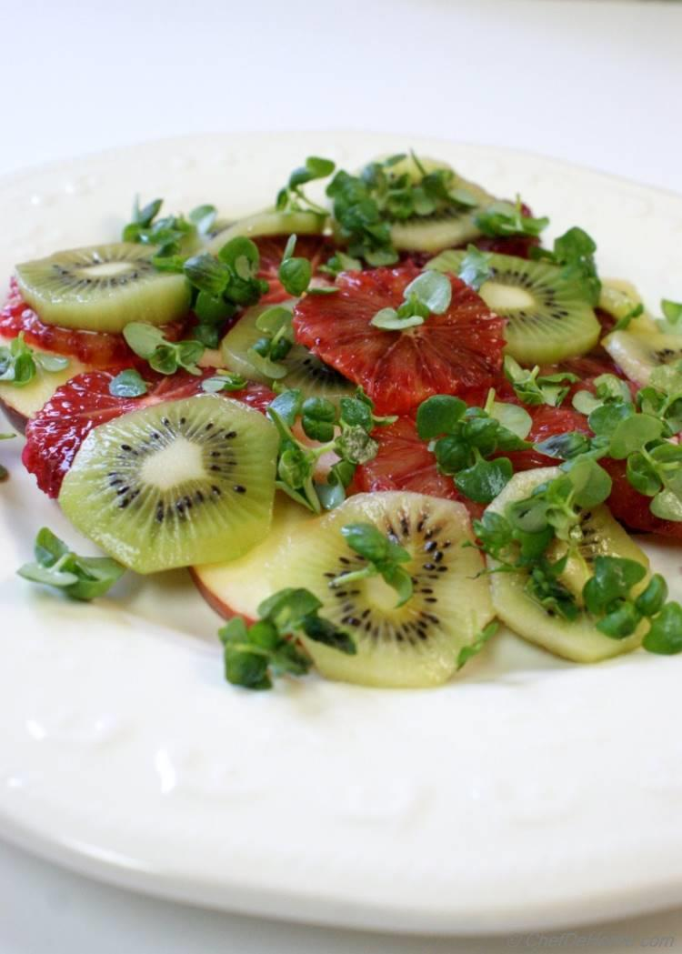 Kiwi and Blood Orange Salad | chefdehome.com