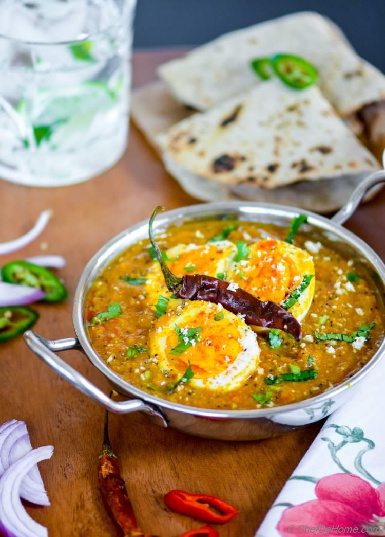 Easy Indian Kolhapuri Egg Curry