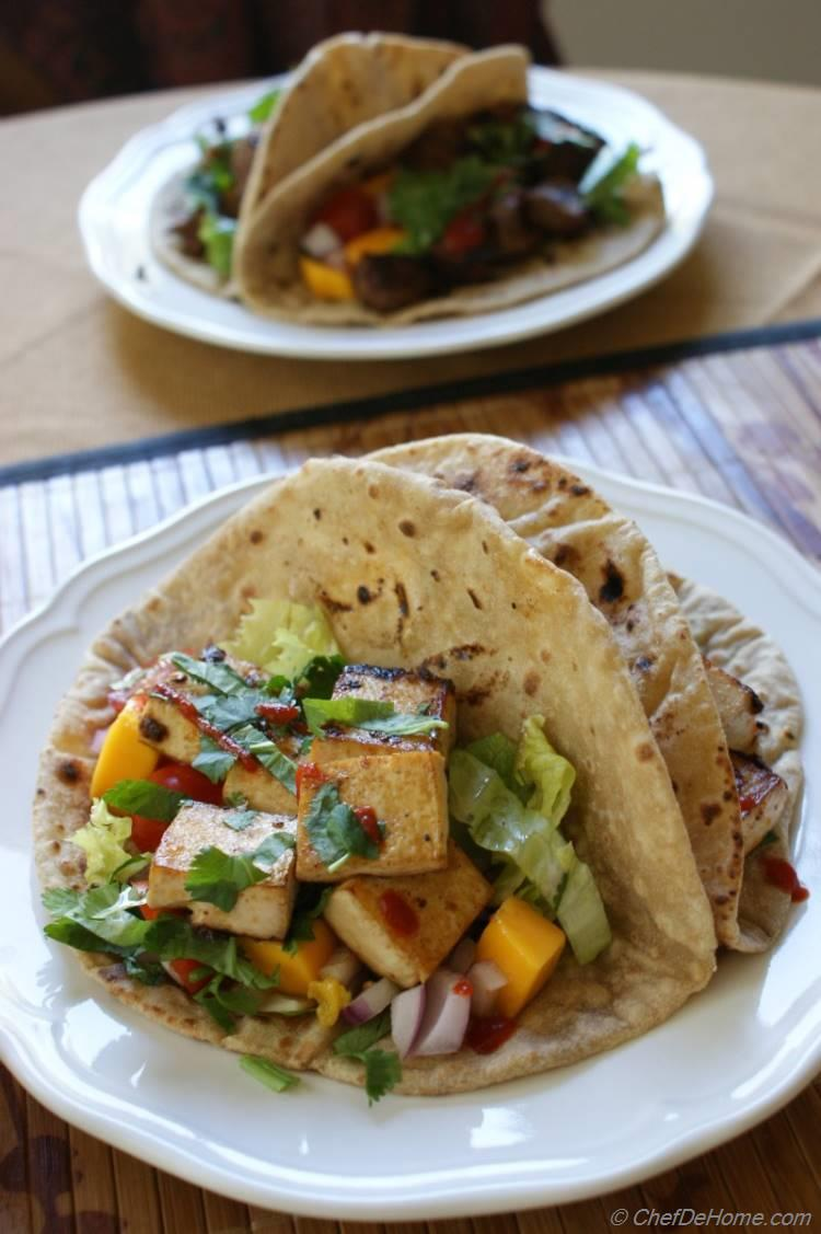 Vegan BBQ Tofu Tacos Recipe